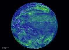 The Winds of Earth https://earth.nullschool.net/ by Cameron Beccario (This is just a still image but on the real thing it shows the movement) Click the link and you will be taken to a real time (within 3 hours) view of how the winds on Earth are...