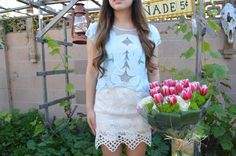 Valentine's Day Outfit x Pink Tulips {A Floral Affair by WorldWideStylista}