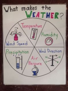 weather tools anchor chart (image only) Second Grade Science, Middle School Science, Elementary Science, Science Classroom, Teaching Science, Science Education, Physical Science, Classroom Decor, Teaching Weather