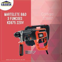 Martelete B&D 3 funções KD975 220V #casadolojista #promoção #construção #máquinas