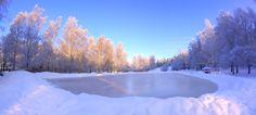 Skating lake in Oulunkyl (credits: Harry Salo) Ice Rink, Roller Skating, Pictures To Paint, Helsinki, Figure Skating, Skate, Wonderland, Scenery, Paisajes