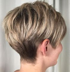 60 Classy Short Haircuts and Hairstyles for Thick Hair - - Ash Bronde Tapered Pixie Short Hairstyles For Thick Hair, Haircut For Thick Hair, Short Pixie Haircuts, Short Hair Cuts For Women, Pixie Hairstyles, Curly Hair Styles, Medium Hairstyles, Short Cuts, Braided Hairstyles