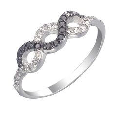Vir Jewels Sterling Silver Black Diamond Ring (0.35 CT) In Size 7 ** Read more at the image link.