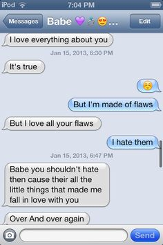Cute Text Messages - Flaws❤ #Relationships #Goals #Love