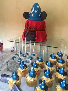 Pastel Mickey Mouse Fantasia cake Mickey Mouse sweet buffet www.sweetlifecr.com