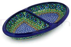 Polish Pottery Stoneware DIVIDED DISH