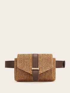To find out about the Straw Detail Flap Fanny Pack at SHEIN, part of our latest Bum Bags ready to shop online today! Fashion Bags, Fashion Accessories, Fashion Backpack, Waist Purse, Best Purses, Coffee Pods, Coffee Beans, Bum Bag, Summer Bags