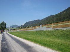 Lärmschutzwand/Schallschutzwand aus kesseldruckimprägniertem Holz