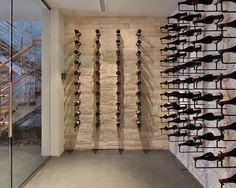 Contemporary wine cellar. http://www.houzz.com/photos/wine-cellar/minimal http://www.squidoo.com/reading-wine-bottle-labels