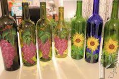 Resultado de imagem para painted bottles