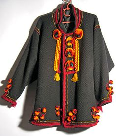 Hutsul sardak (jacket). Creative decoration.