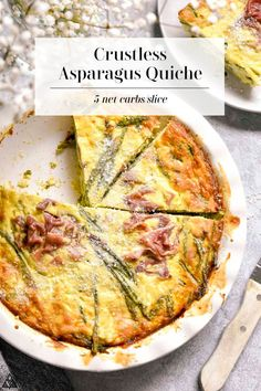 This cheesy, velvety, creamy, salty, veggie packed crustless asparagus quiche will give you the perfect reason to get out of bed!  #crustlessasparagusquiche #ketoquiche #lowcarbquiche #crustlessquiche #quiche #ketobreakfast  #lowcarbbreakfast Asparagus Quiche, Leek Quiche, Cheese Quiche, Ham And Cheese, Low Carb Breakfast, Perfect Breakfast, Vegetarian Quiche, Low Carb Quiche, Low Carb Recipes