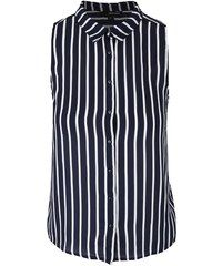 3ed24abf8940ba Bílo-modrá pruhovaná košile bez rukávů TALLY WEiJL Armadi Da Sogno