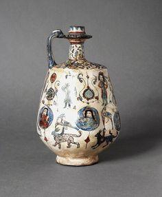 Wine Ewer - Iran, Kashan, late 12th or early 13th century