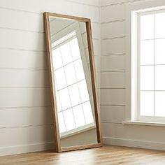 """Linea II Floor Mirror. Crate & Barrel. $499  Width: 32.25"""" Depth: 2"""" Height: 78.5"""""""