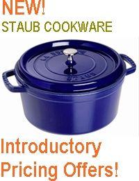 "Staub Cherry Red Saute Pan Oven 2.4L / 24CM / 9 3/8"""