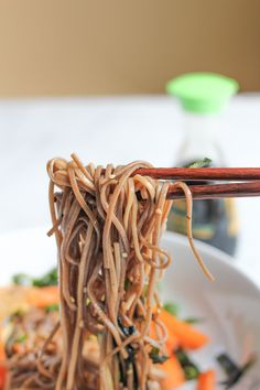 Soba Noodles with Extra Crispy Tofu