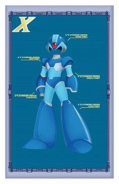 X's Armor and Zero's Armor Created by Gabriel... | it8Bit