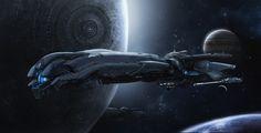 ArtStation - space ship concept art, Daehong Jang