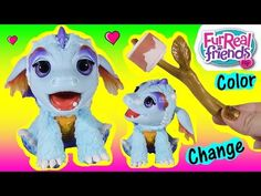 Fur Real Friends! Torch My Blazin' dragon! Color Changing Marshmallow TREAT! Breathes Mist! FUN - YouTube