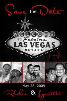 VIVA Las Vegas, wedding save the date card, magnet, marriage announcement