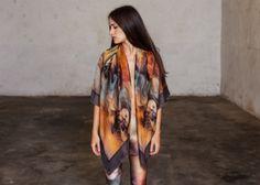 This silk kimono! Silk Kimono, Kimono Top, Tokyo Rose, Buy Fabric, Rainbow Hair, Thrifting, Twins, Cover Up, Female