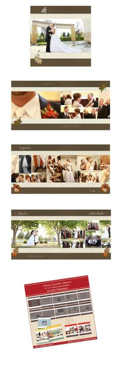 wedding photobook album by Pam using Sharpshooter templates (Lynn Grieveson, Designer Digitals)