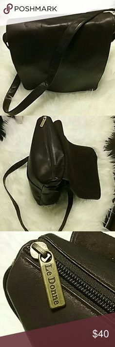 Brown Leather Le Donne Crossbody Bag Used in excellent condition no tears very clean Le Donna Bags Crossbody Bags