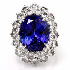 26.84ct Tanzanite Diamond Cocktail Lady Dianna Ring Item # 456106-501007- abc