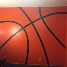 Basketball Room, Basketball Signs, Basketball Stuff, Sticky Vinyl, Photo Clock, Sports Decals, Custom Vinyl Lettering, Striped Walls, Vinyl Decor
