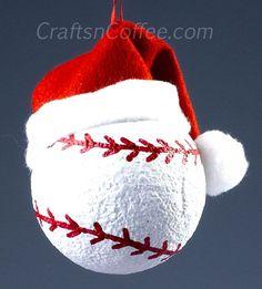 Cute, DIY ornament for a softball fan! Love it! CraftsnCoffee.com.