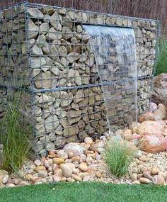 gabion garden water feature http://www.gabion1.com