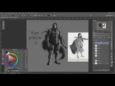 ▶ Dragon Slayer - Dark - WIP (timelapse) [pt 1] - corel painter + PS - YouTube