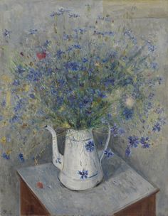 Mikhail Larionov (Russian, 1881-1964), Still life with Cornflowers, 1930s–40s. Oil on canvas