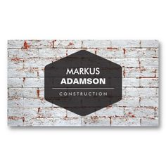 VINTAGE EMBLEM LOGO ON RUSTIC BRICK WALL Customizable Business Card Template