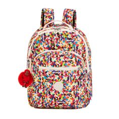 Seoul Printed Laptop Backpack - Multi Splatter | Kipling