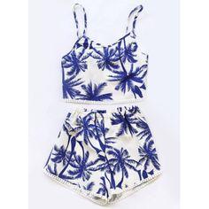 Stylish Spaghetti Strap Two-Piece Printed Women's Swimsuit #jewelry, #women, #men, #hats, #watches, #belts