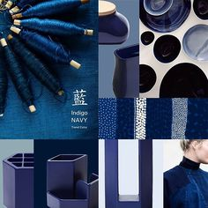 藍 Indigo Navy Color / new trend #ideaco#navy#interior#cool#trend#material#design