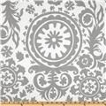 Items similar to Premier Prints Twill Suzani Storm Grey - Home Decor Fabric on Etsy Retro Fabric, Cool Fabric, Grey Fabric, Floral Fabric, Damask Curtains, Panel Curtains, Curtain Panels, Curtain Fabric, Bedroom Curtains