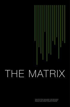 The Matrix (1999) ~ Minimal Movie Poster by Andrew Lynne #amusementphile