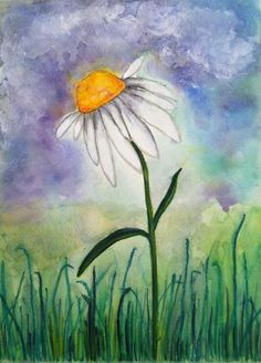 Daisy - Water Color painted by Jackie