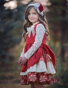 Stunning red holiday dress by distinguished designer boutique brand Persnickety. This precious dress has a layered look with a mixed print lay… Toddler Christmas Dress, Girls Christmas Dresses, Girls Dresses, Flower Girl Dresses, Vestidos Boutique, Boutique Dresses, Boutique Clothing, Fashion Kids, Toddler Fashion
