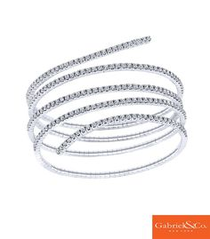 The perfect bracelet for any occasion. Loving White Gold Diamond Bangle by Gabriel & Co. It's simple, chic, and unique! Find your local Gabriel & Co. retailer on our website to get all the perfect pieces you need and want! Fashion Bracelets, Fashion Rings, Fashion Jewelry, Gemstone Bracelets, Gold Bangles, Cuff Bracelets, Diamond Bangle, Diamond Jewelry, Diamond Necklaces