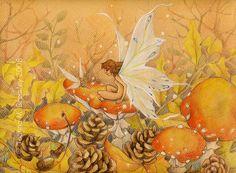 Dorato autunno  fata capricciosa fantasia di JoannaBromleyArt