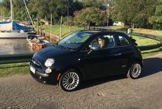 Fiat 500c, Fiat 500 Black, Automobile, 1, Stars, City, Outdoor Mirror, Rear Window, Argentina
