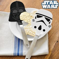 Star Wars™ Flexible Spatula Set | Williams-Sonoma. Everyone needs a set of these for Sunday morning pancakes!