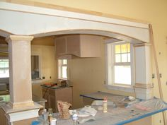 Kitchen Living Rooms Remodeling ways to open the kitchen to dining room without removing a load bearing wall Kitchen Redo, Living Room Kitchen, Kitchen Design, Chris Kitchen, Kitchen Pass, Kitchen Ideas, 1950s Kitchen, Kitchen Storage, Load Bearing Wall