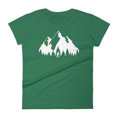 b2fe495f868 Bigfoot (Sasquatch) Mountain T-Shirt for Women