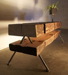 "Reclaimed Farmhouse Beams Made Into Eclectic ""Farmpunk"" Furniture : TreeHugger"