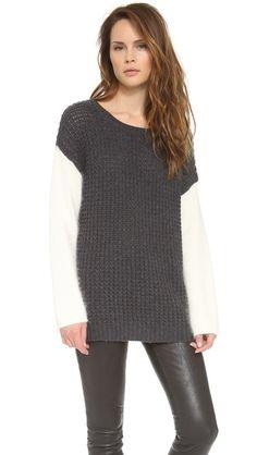Colorblock Oversized Sweater